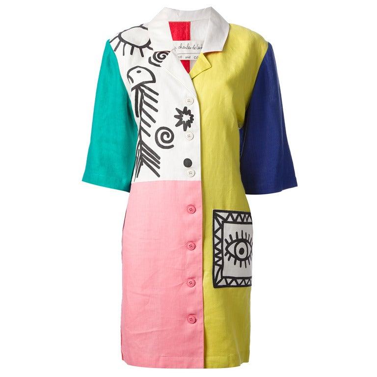 Jc Dd Castelbajac Ko Amp Co Vintage Picasso Dress At 1stdibs