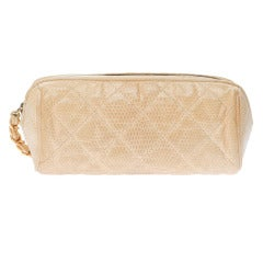 Chanel Vintage Lizard Make-up Bag