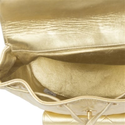 Chanel Vintage Gold Quilted Backpack 10