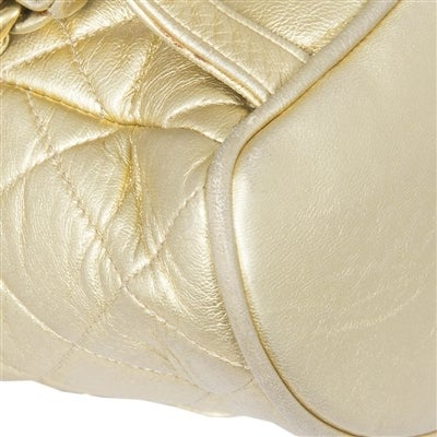 Chanel Vintage Gold Quilted Backpack 5