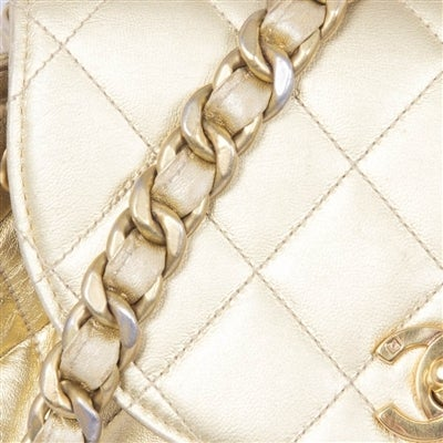 Chanel Vintage Gold Quilted Backpack 7