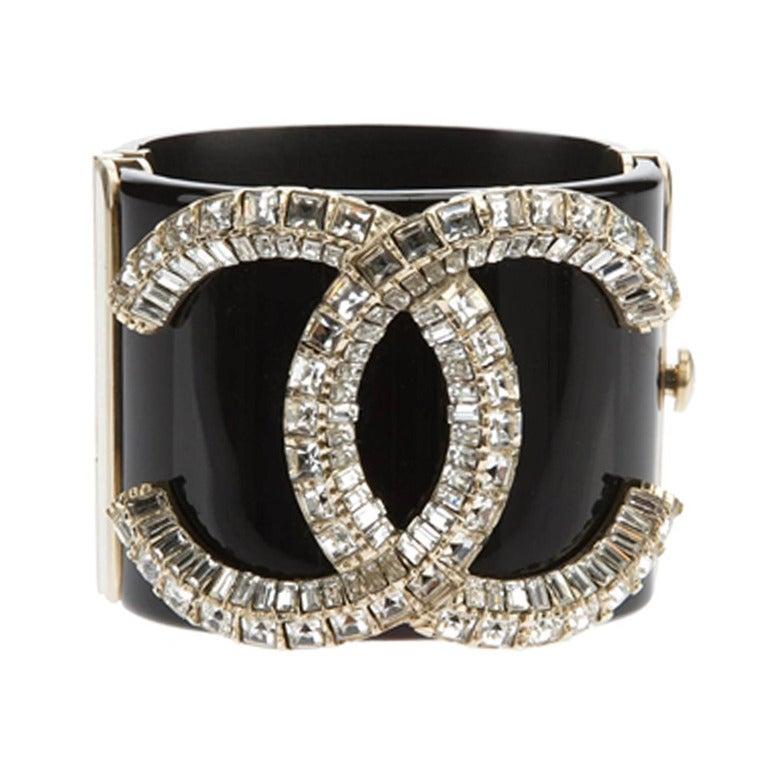 Chanel Vintage Crystal Cuff 1