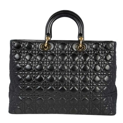 Black Christian Dior 'Lady Dior' Handbag For Sale