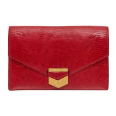 Hermes Vintage Lizard Skin Clutch Bag