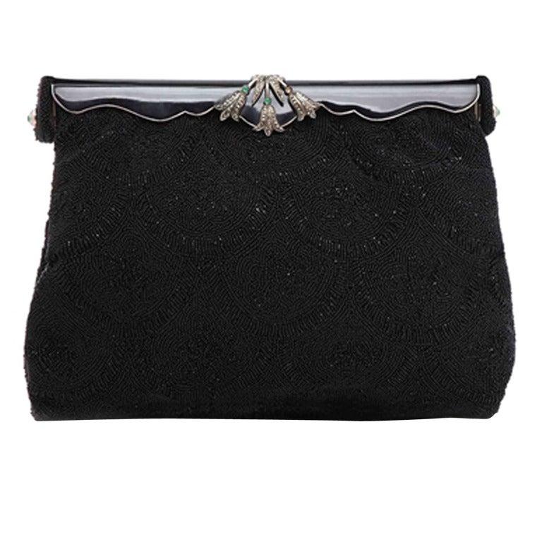 1stdibs 1940s Vintage Beaded Evening Bag 3cZWNId
