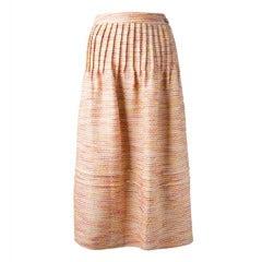Chanel Wool Striped Skirt