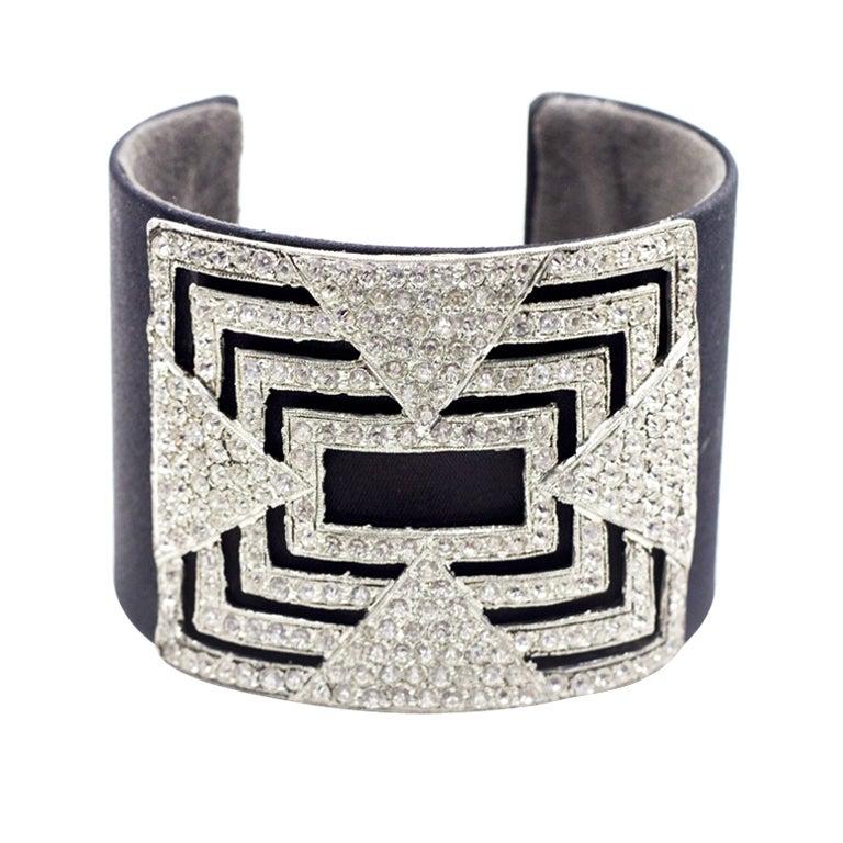 Black 1920's Crystal Cuff