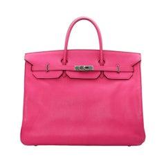 Hermes 40cm Rose Tyrien Birkin Bag