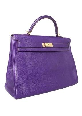 Hermes 40cm Iris Kelly Bag 4