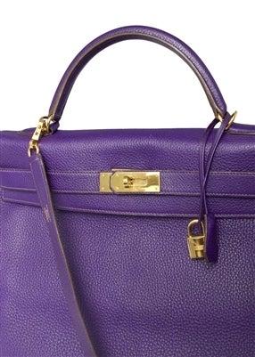 Hermes 40cm Iris Kelly Bag 7