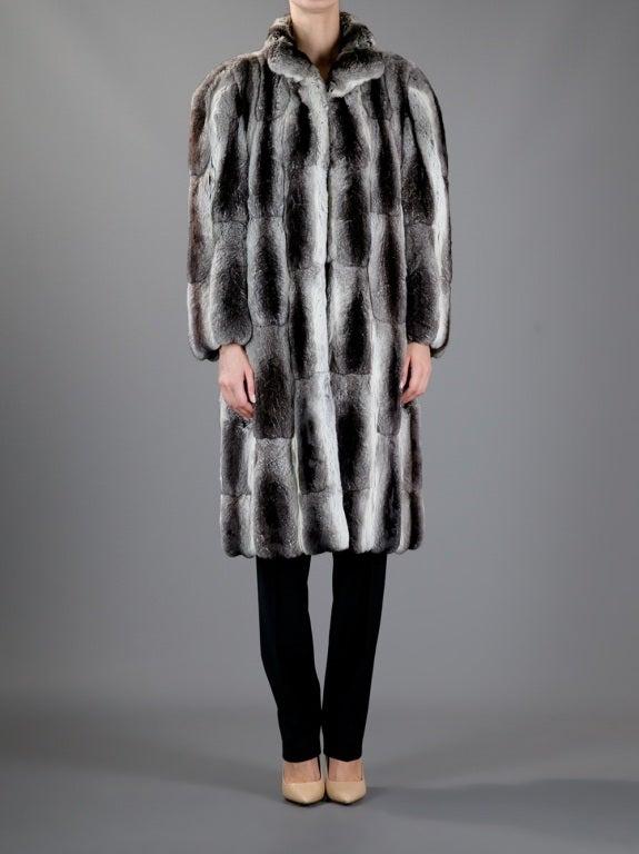 Christian Dior Vintage Chinchilla Fur Coat at 1stdibs