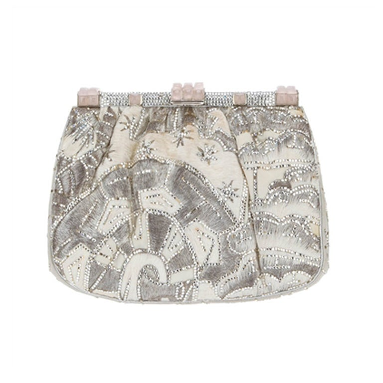 Judith Leiber Vintage Embroidered Shoulder Bag For Sale