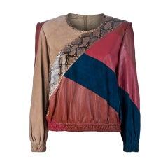 Valentino Vintage Colour Block Top