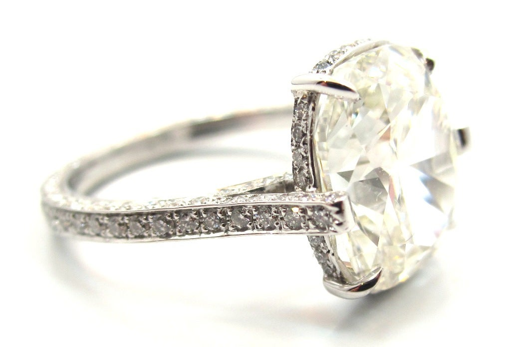 Exquisite Gia 4 11 Ct Cushion Cut Diamond Engagement Ring