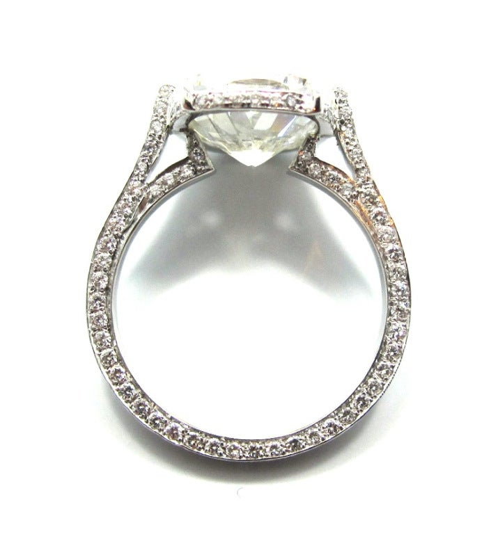 Exquisite Gia 411 Ct Cushion Cut Diamond Engagement Ring. Lord Ring Rings. Two Band Wedding Rings. Electroformed Rings. Princess Cut Rings. Designed Wedding Rings. Trillion Rings. Whimsical Wedding Rings. Engraving Initial Wedding Rings