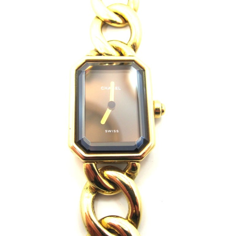 chanel s yellow gold premiere chain bracelet at