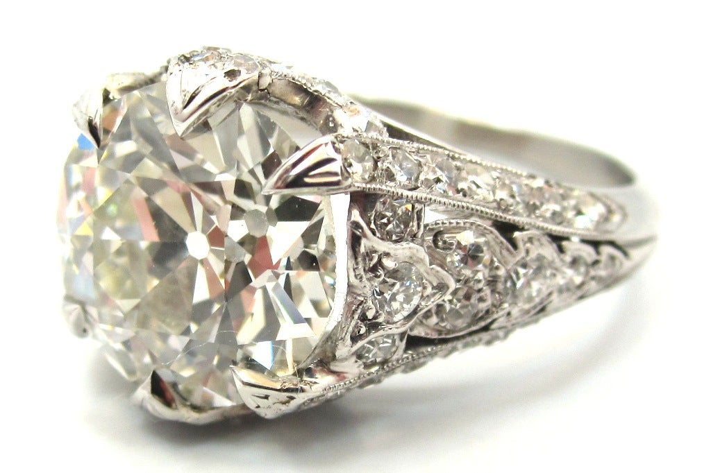 4 06 Carat Edwardian Old European Cut Diamond Platinum