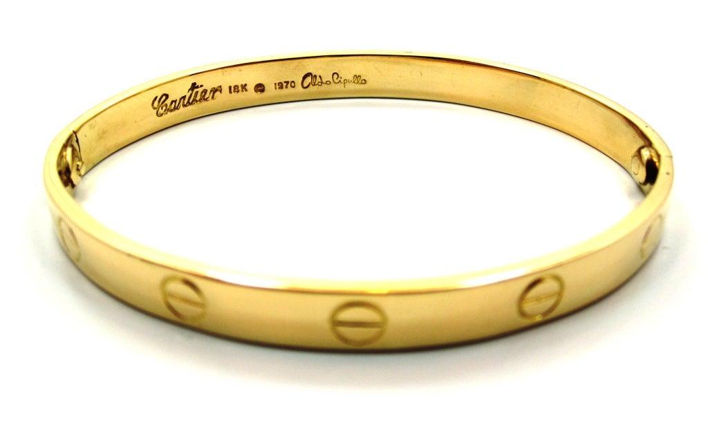 1970s Cartier Love Bracelet By Aldo Cipullo In Yellow Gold