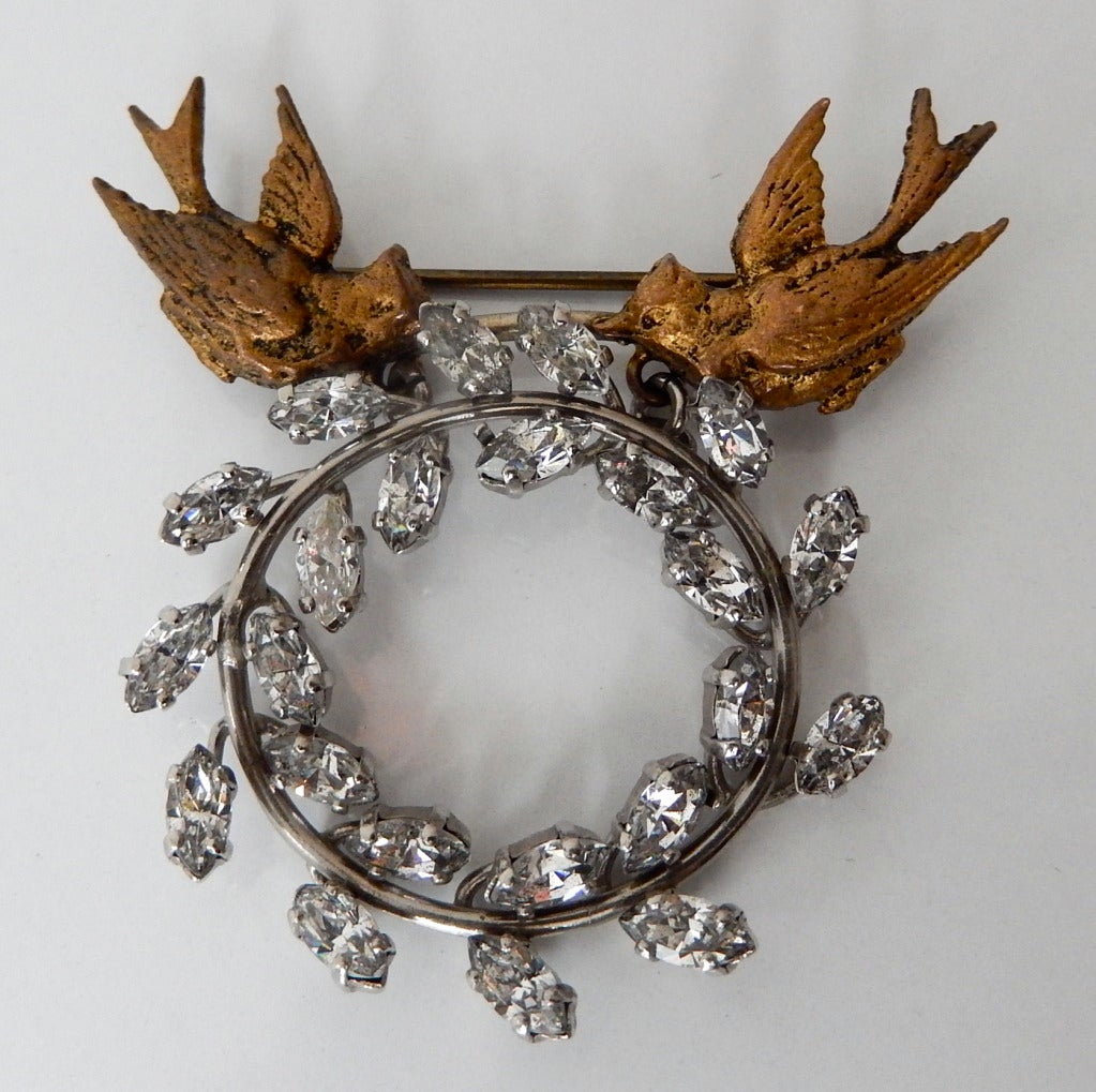 1950s Rare Christian Dior Brooch and Earrings at 1stdibs