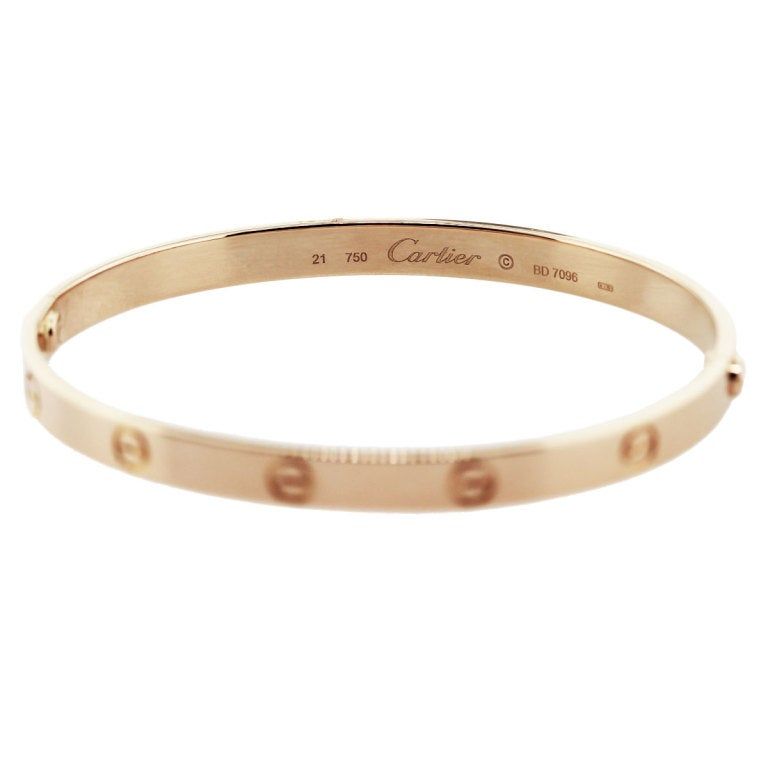 CARTIER Rose Gold Love Bangle Bracelet Size 21 image 2Rose Gold Bangle Bracelet