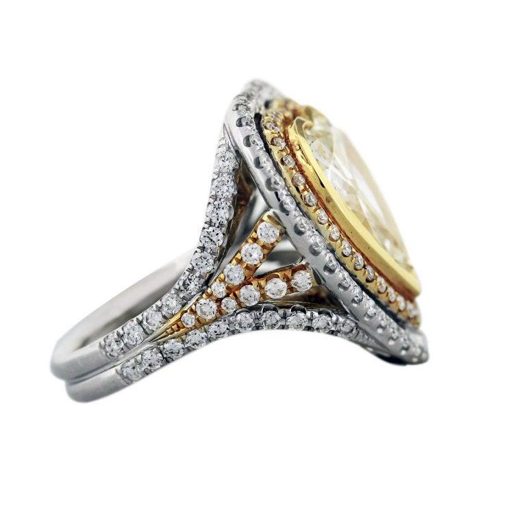 5 27 Carat Fancy Yellow Diamond Heart Shape Ring At 1stdibs
