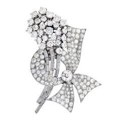 RAYMOND YARD Diamond Bow Spray Pin