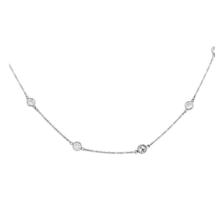 Tiffany And Co Elsa Peretti Platinum Diamonds By The Yard