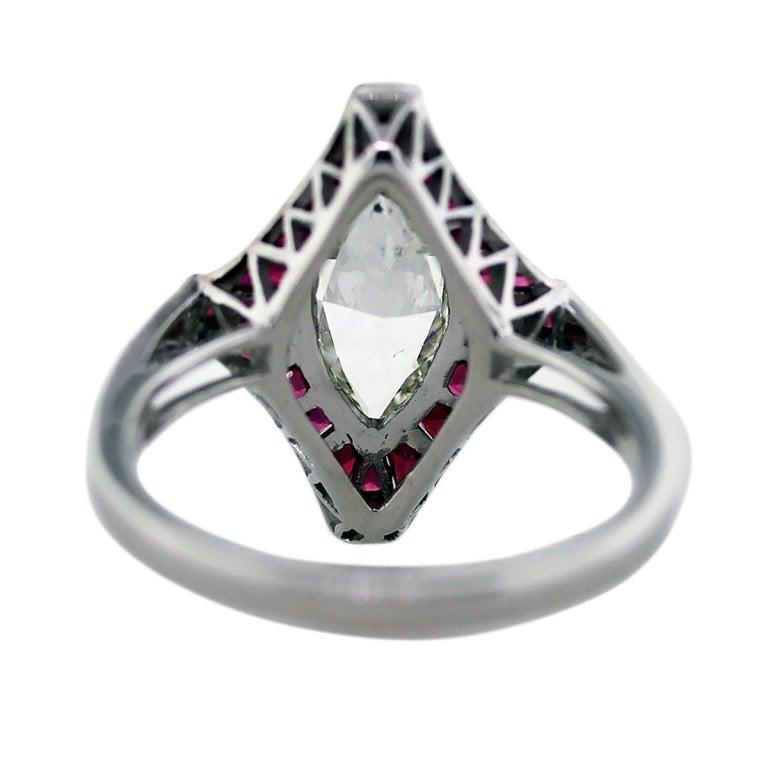 1 carat marquise cut diamond platinum ruby engagement ring 3