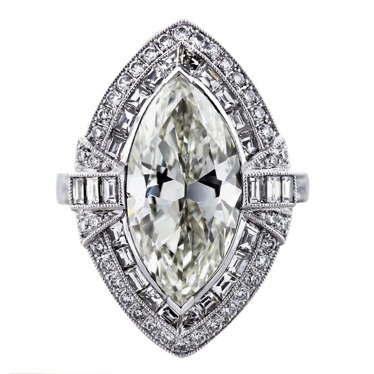 carat marquise cut diamond platinum engagement ring. Black Bedroom Furniture Sets. Home Design Ideas