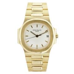 PATEK PHILIPPE Yellow Gold Nautilus Wristwatch Ref 3800/1J