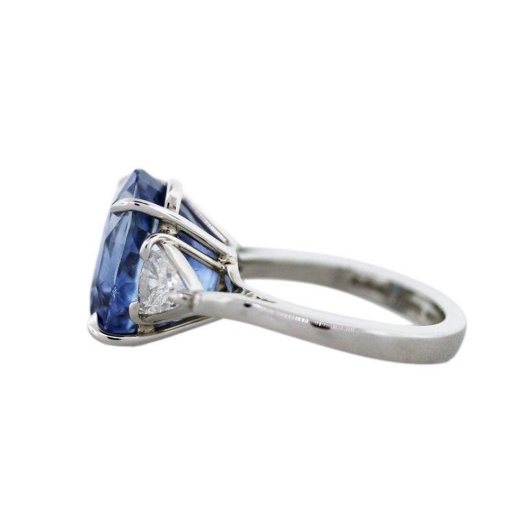 12ct ceylon sapphire platinum cocktail engagement