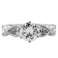 1 Carat Round Internally Flawless Diamond Engagement Ring