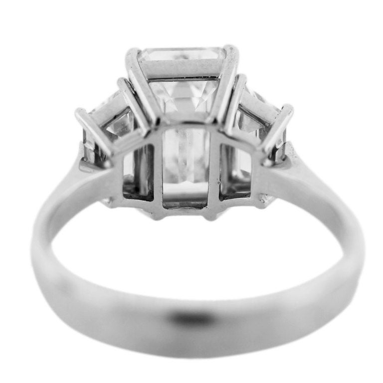 3 carat emerald cut engagement ring at 1stdibs