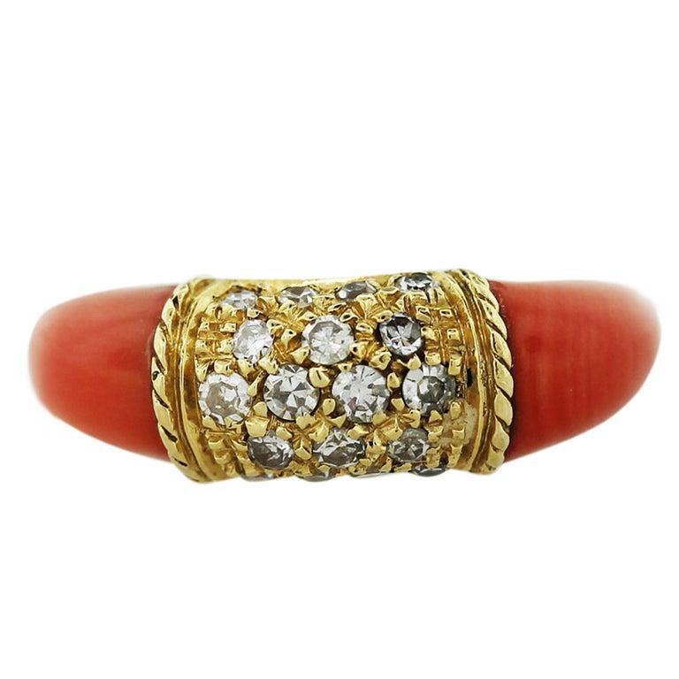 yellow gold coral and ring at 1stdibs