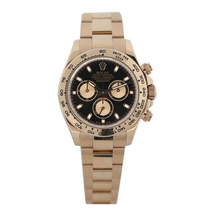 Rolex Rose Gold Cosmograph Daytona Wristwatch Ref 116505 2
