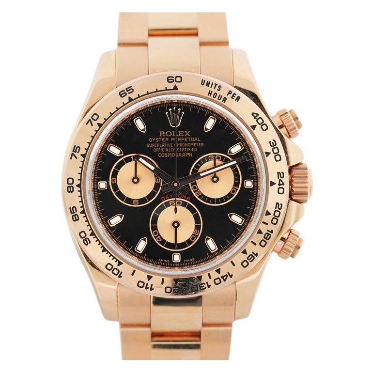 Rolex Rose Gold Cosmograph Daytona Wristwatch Ref 116505 1