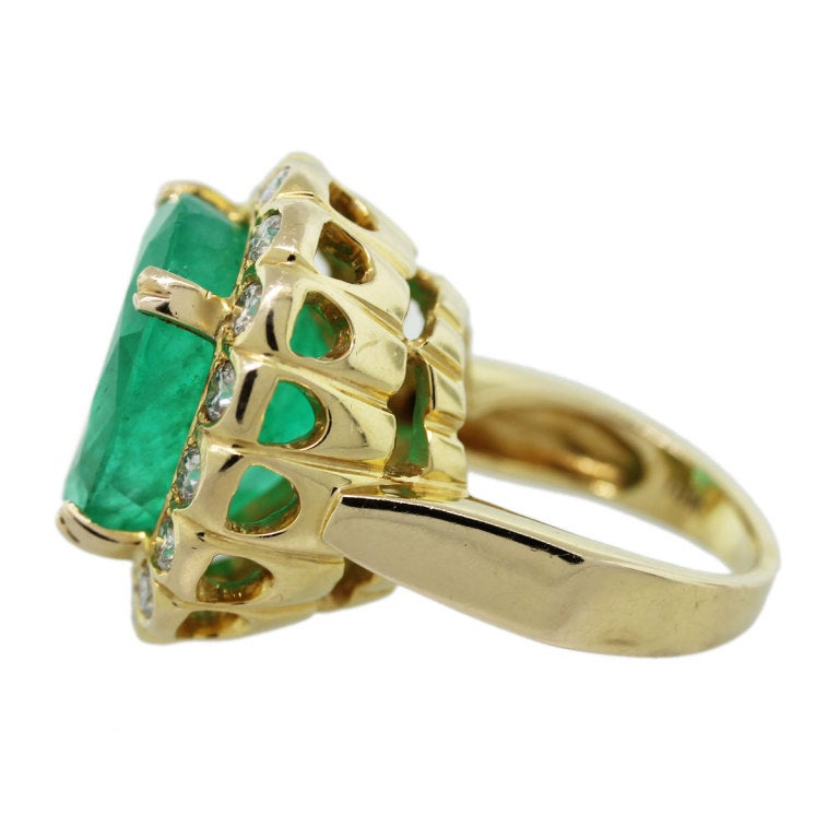 emerald and yellow gold ring for sale at 1stdibs