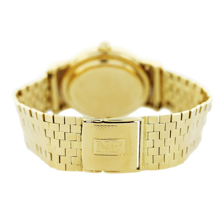 Men's Patek Philippe Yellow Gold Automatic Wristwatch Ref 2548 For Sale
