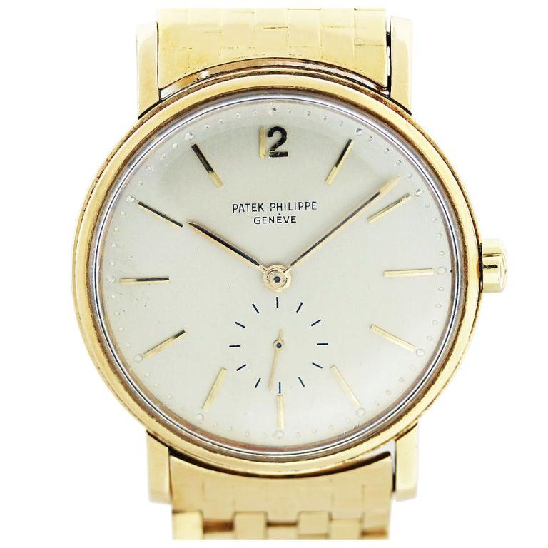 Patek Philippe Yellow Gold Automatic Wristwatch Ref 2548