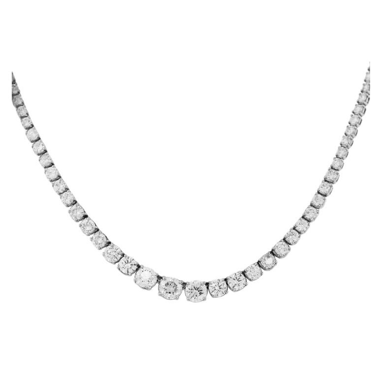 Platinum 20 Carat Graduated Diamond Riviera Necklace At. Ring Designs Diamond. Gorgeous Diamond Engagement Rings. 4ct Wedding Rings. 6 Mm Stud Earrings. Gold Band Engagement Rings. Jewelry Buyers. Black Pearl Bracelet. Pewter Rings