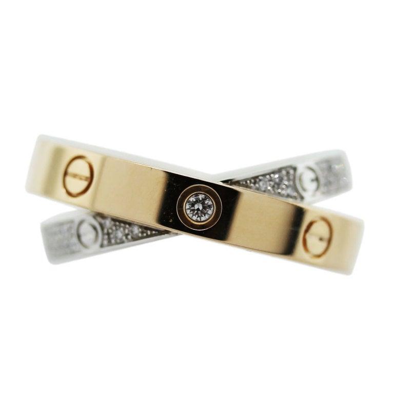 CARTIER Diamond Love Crossover Ring image 2