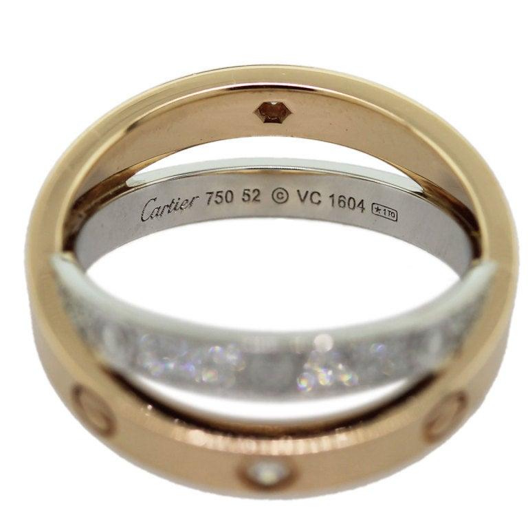 CARTIER Diamond Love Crossover Ring image 3