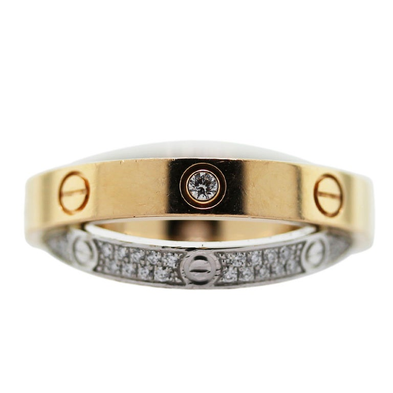 CARTIER Diamond Love Crossover Ring