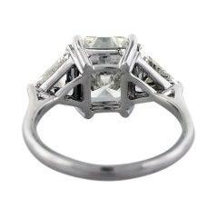 White Gold 3 53 Carat Radiant Cut Diamond Engagement Ring