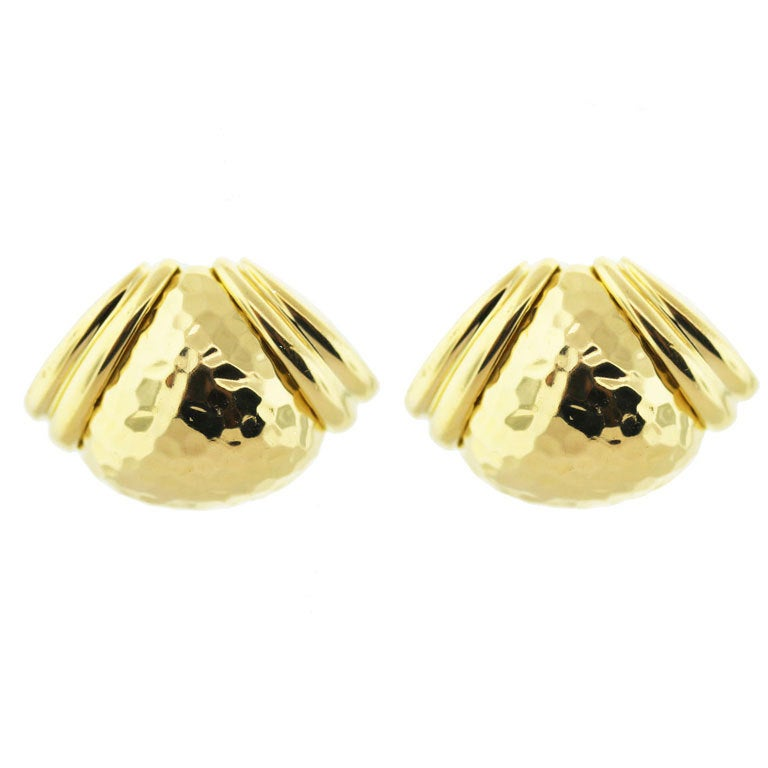 HAMMERMAN BROTHERS Yellow Gold Heavy Ear Clips