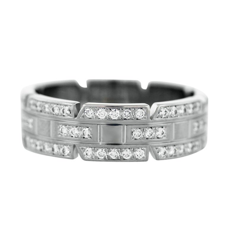 cartier tank white gold ring at 1stdibs