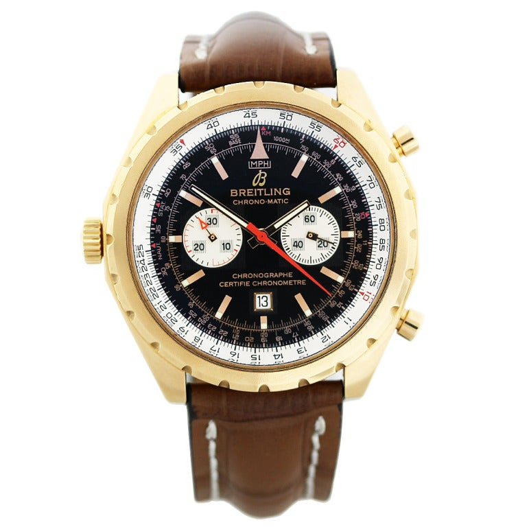 breitling gold chronomatic limited edition at