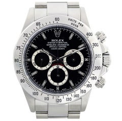 ROLEX Daytona 16520 Zenith Movement Stainless Steel Men's Watch