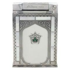 ST DUPONT Taj Majal Jeroboam Platinum Plated Table Lighter