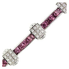Charriol Flamme Blanche Pink Sapphire Diamond Bracelet